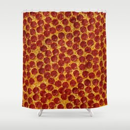 Pizza Pepperoni Shower Curtain