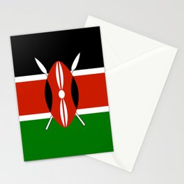 National flag of Kenya - Authentic version, to scale and color Stationery Cards