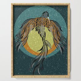 Shadow Phoenix Serving Tray