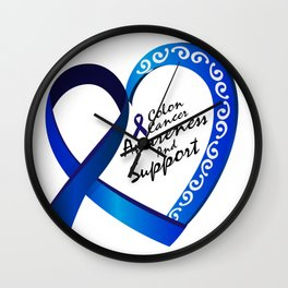 Colon Cancer Suppor Gifts Wall Clock
