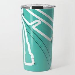 Neon Turntable 3 - 3D Art Travel Mug