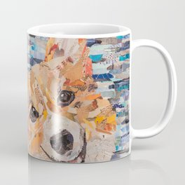 corgi on blue background Coffee Mug