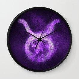 Taurus Zodiac Sign. Abstract night sky. Wall Clock