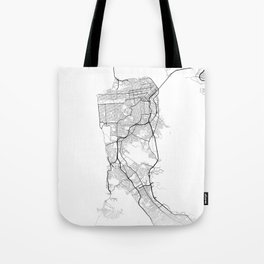 Minimal City Maps - Map Of San Francisco, California, United States Tote Bag