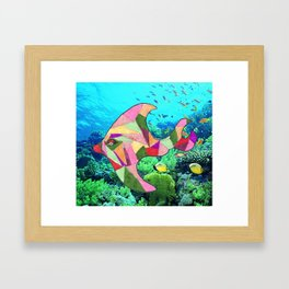 Goldie the Fish Framed Art Print