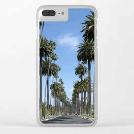Tall California Palm Trees Photograph Clear iPhone Case