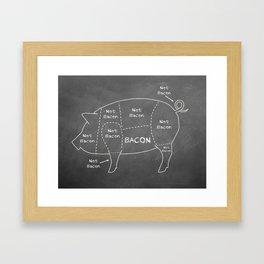 Bacon vs. Not Bacon Framed Art Print