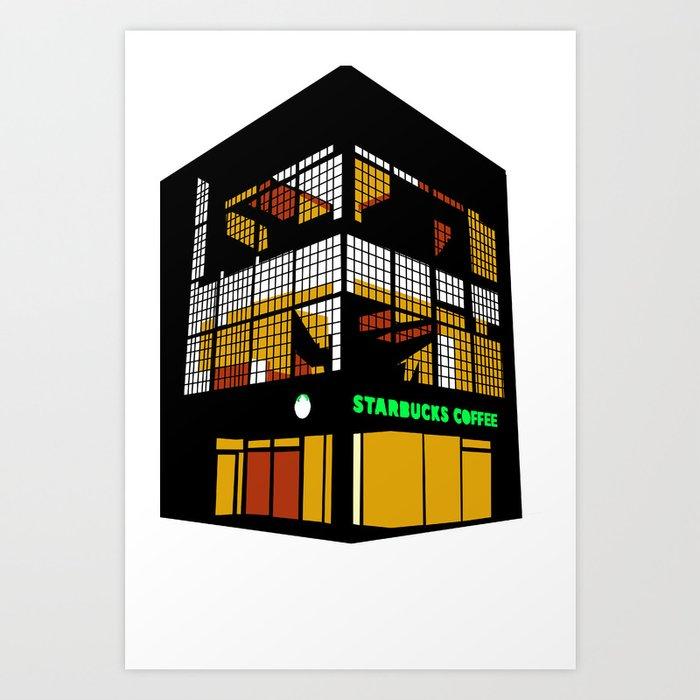 Tokyo Starbucks Art Print