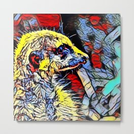Color Kick - Meerkat 2 Metal Print