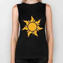 Tangled Rapunzel Sun Logo - Corona Symbol Biker Tank