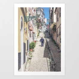 Hilly Lisbon Art Print