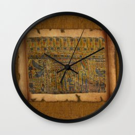 Ancient Egyptian Funerary Scroll pre 944 BC Wall Clock