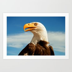 EAGLE EYED Art Print
