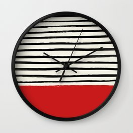 Red Chili x Stripes Wall Clock