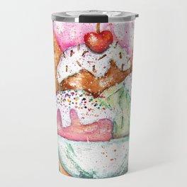Ice Cream Watercolor Travel Mug