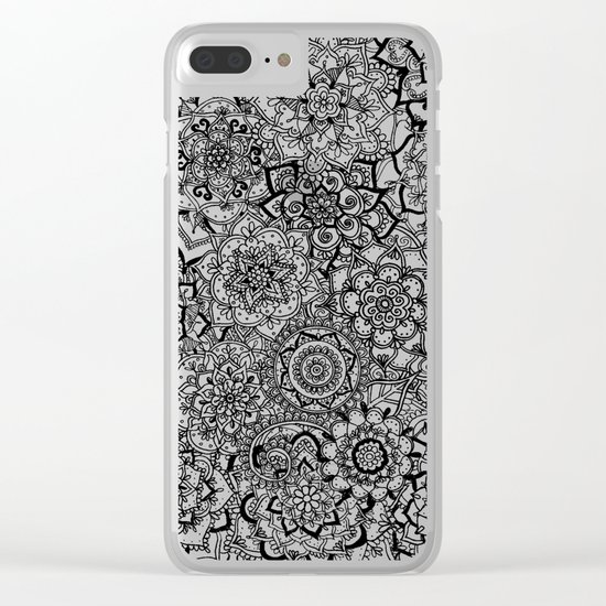 Delicate Lace Mandala Pattern Clear iPhone Case