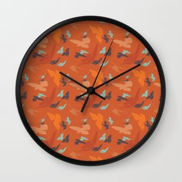 Bird Camouflage at Sunset Wall Clock