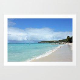Antigua Beach Art Print