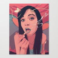 queen Canvas Prints featuring Moth Queen by Conrado Salinas