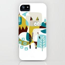 Fox in a box iPhone Case