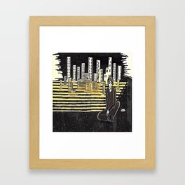 Grown up chaos Framed Art Print