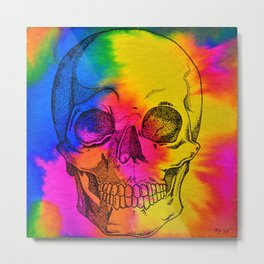 Ode To Skully Metal Print
