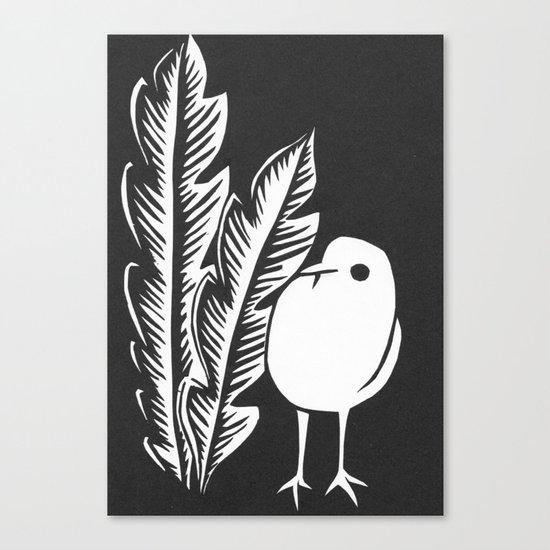 Graphic Bird Canvas Print