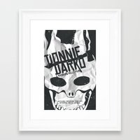 donnie darko Framed Art Prints featuring Donnie Darko poster print by Bethany Sellers