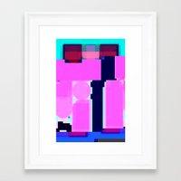 blur Framed Art Prints featuring Blur by allan redd