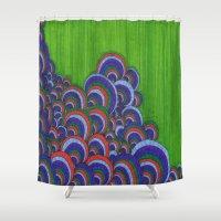 dr seuss Shower Curtains featuring Dr. Seuss 6 by Sarah J Bierman