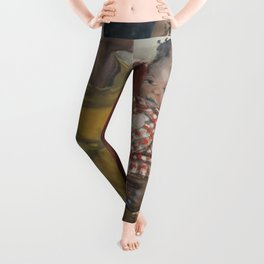 African American Masterpiece 'Harlem' portrait of a mother and daughter by Elanor Ruth Colburn Leggings