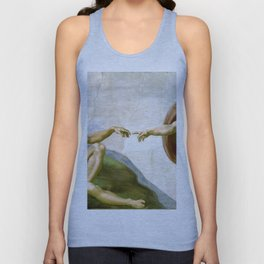 The Creation of Adam Painting by Michelangelo Sistine Chapel Unisex Tank Top