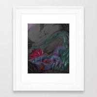 cyberpunk Framed Art Prints featuring Cyberpunk Serpent by suaveassassin