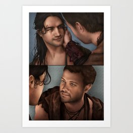 Nagron First Kiss (Spartacus) Color Version Art Print