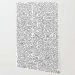 Art Deco on Grey Wallpaper