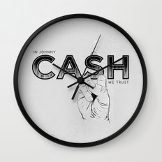 In Johnny Cash We Trust. Wall Clock