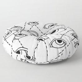 Tracking Eye Movements Floor Pillow