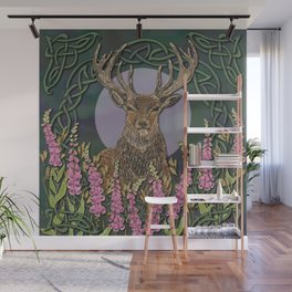 Celtic Stag Wall Mural
