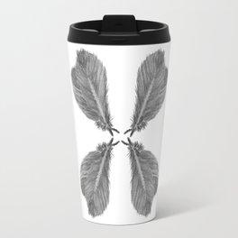 Feather Fan black and white Travel Mug