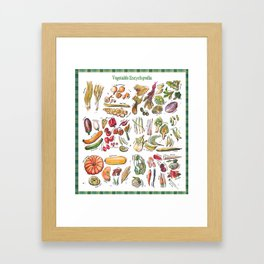 Vegetable Encyclopedia Framed Art Print