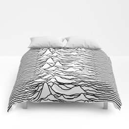 Joy Division - Unknown Pleasures (Black Lines) Comforters
