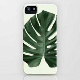 Monstera_1 iPhone Case