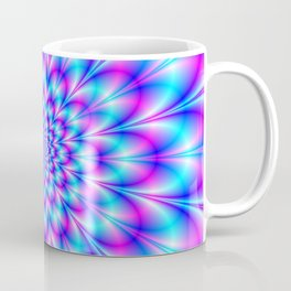 Neon Rosette in Blue and Pink Coffee Mug