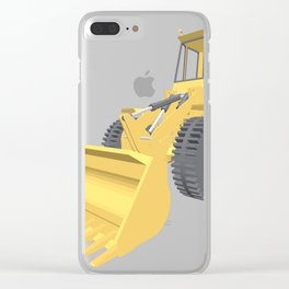 Bulldozer 3D projection vector. Clear iPhone Case