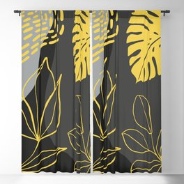 Botanical Abstract Four Blackout Curtain