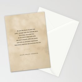Ralph Waldo Emerson Quote 04 - Typewriter Quote On Old Paper - Literary Poster - Book Lover Gifts Stationery Cards