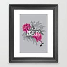 Finding Beauty Framed Art Print
