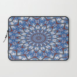 Seventeen Pointed Star In Red White and Blue Laptop Sleeve
