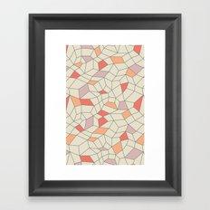 mod colorblock mesh Framed Art Print
