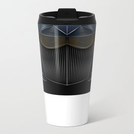 Sound Waves Metal Travel Mug
